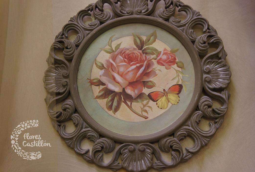 Ideas para regalar flores castillon for Cuadros con espejos redondos