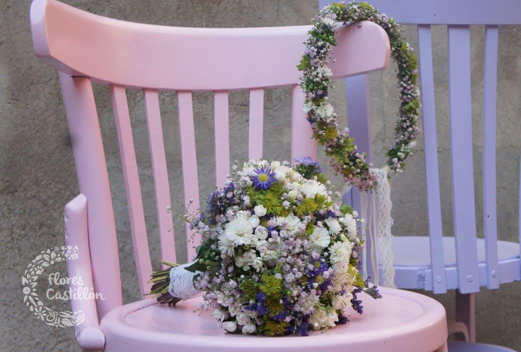 detalle decorativo en boda boho chic