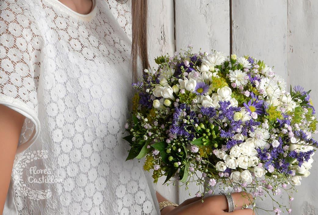 ramo silvestre e informal para novia