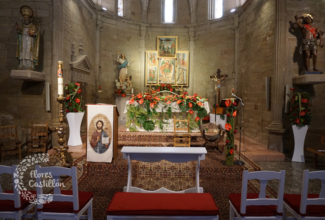 decoración-floral-en-color-rojo-para-boda