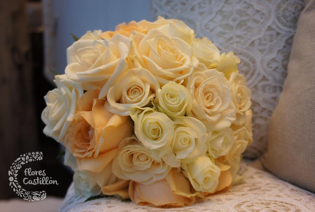 ramo de novia bouquet rosas empolvadas