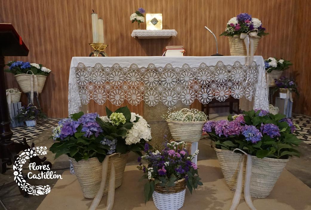 Una comuni n r stica c mo decorarla con capazos for Fiestas comunion decoracion