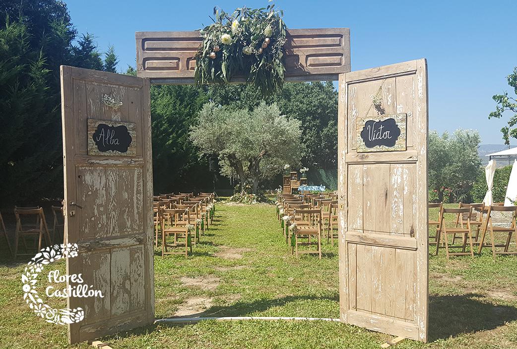 C mo decorar tu finca para celebrar una boda vintage for Decoracion con puertas antiguas