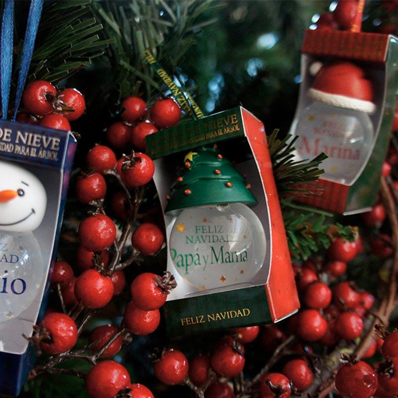 Bolas de navidad personalizadas con nombre flores castill n - Bolas navidad transparentes ...
