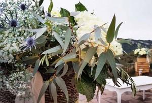 decoracion con flores boda rustica