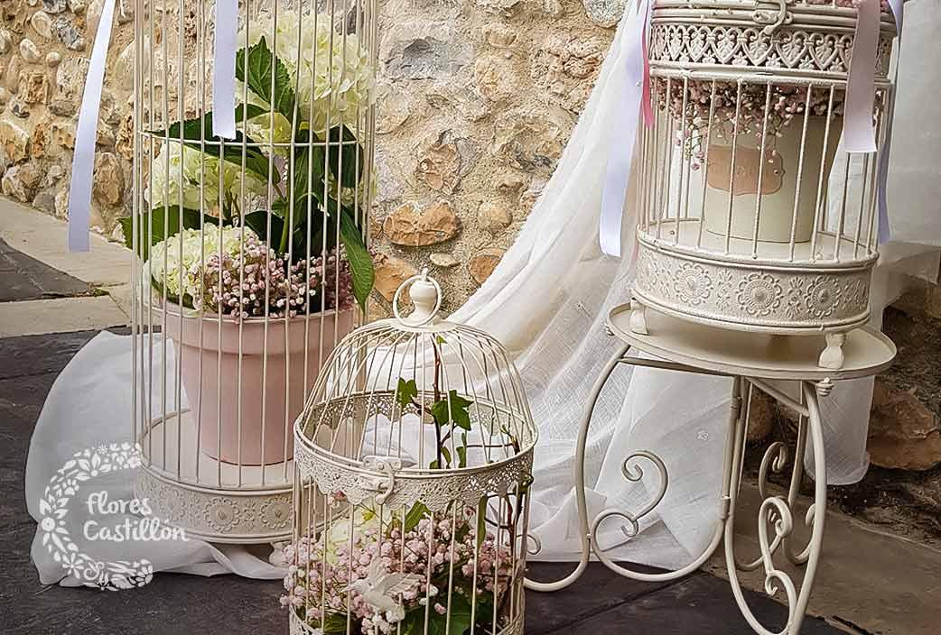 decoracion de boda en liguerre con flores