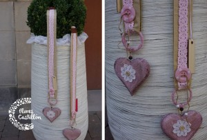 decoración exterior de una boda civil