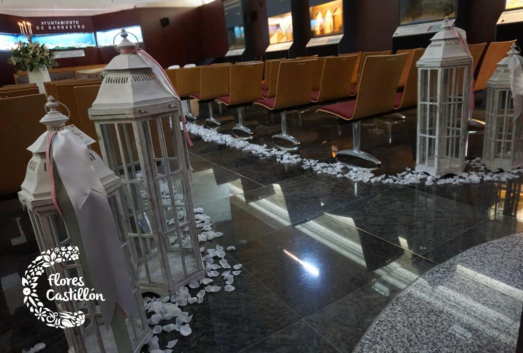 pasillo de boda civil