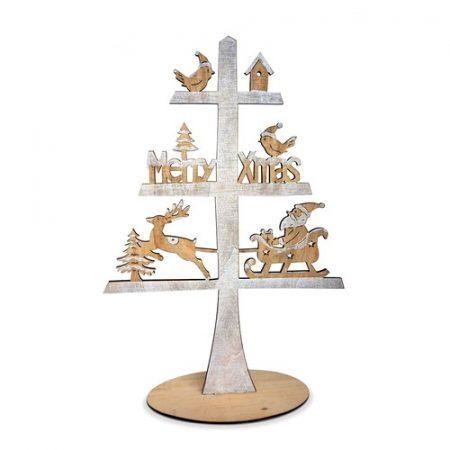 arbol de navidad de madera para decorar