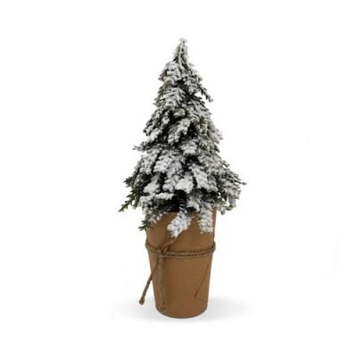 arbol de navidad de decoración con nieve