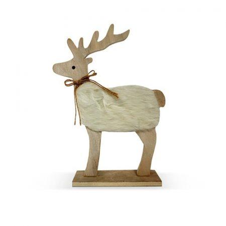 reno de navidad de madera para decorar casa
