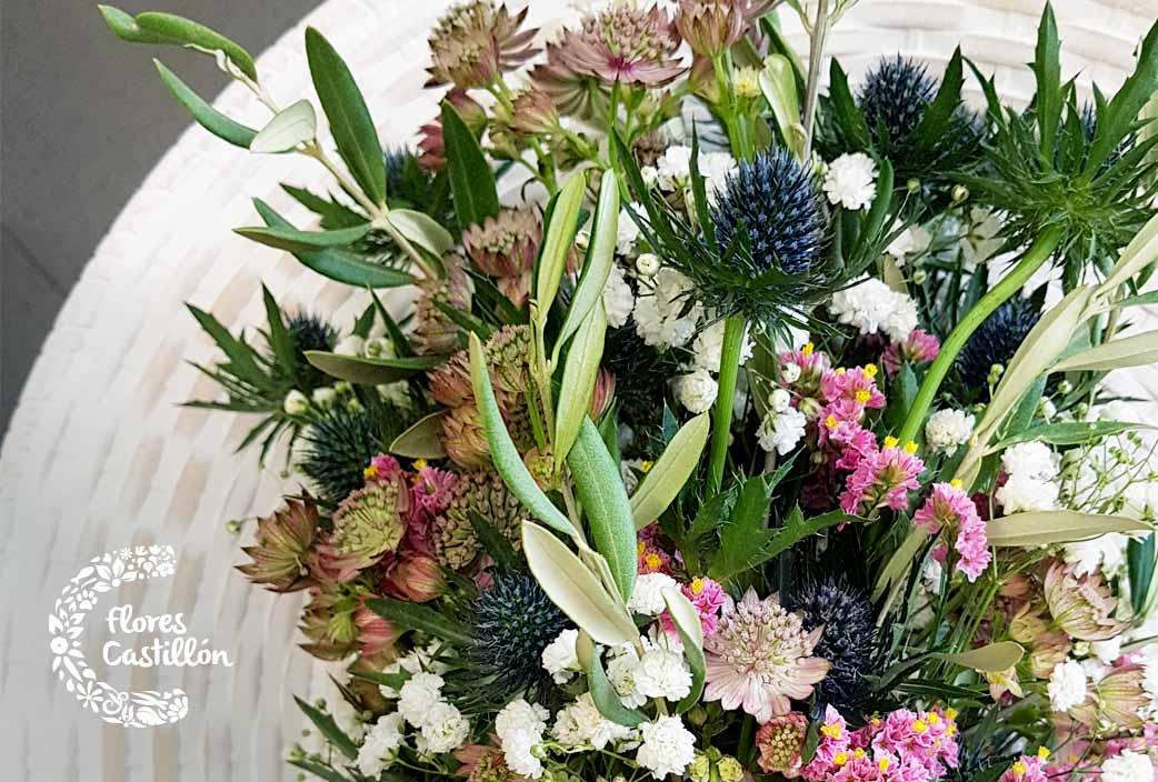 flores naturales para ramo de novia