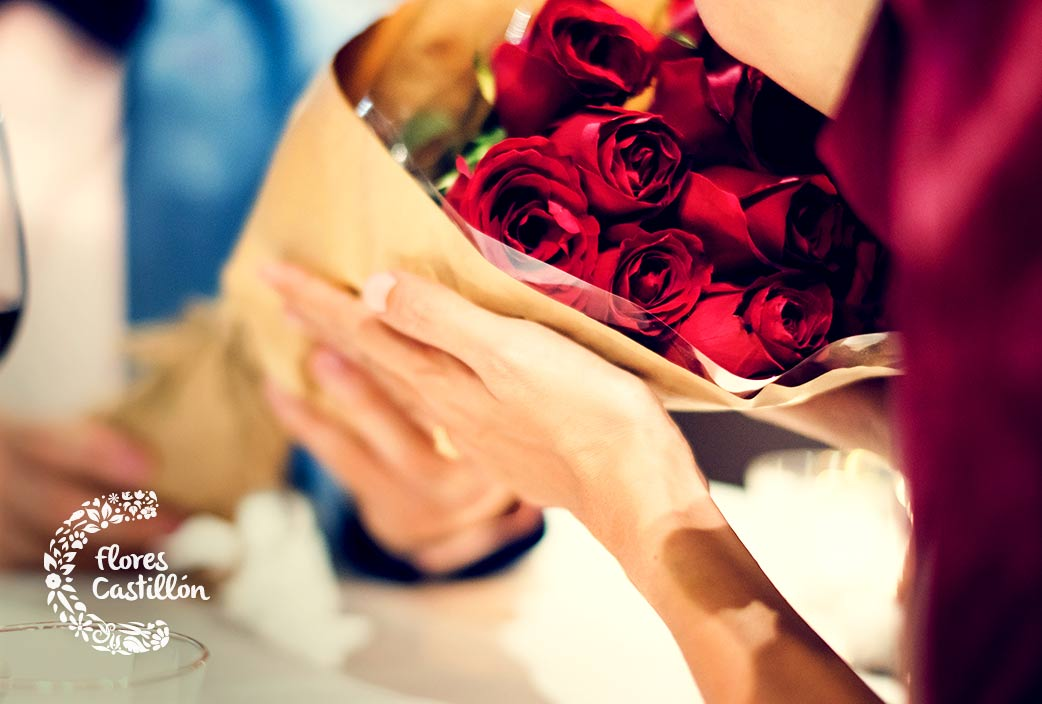 rosas en san valentin