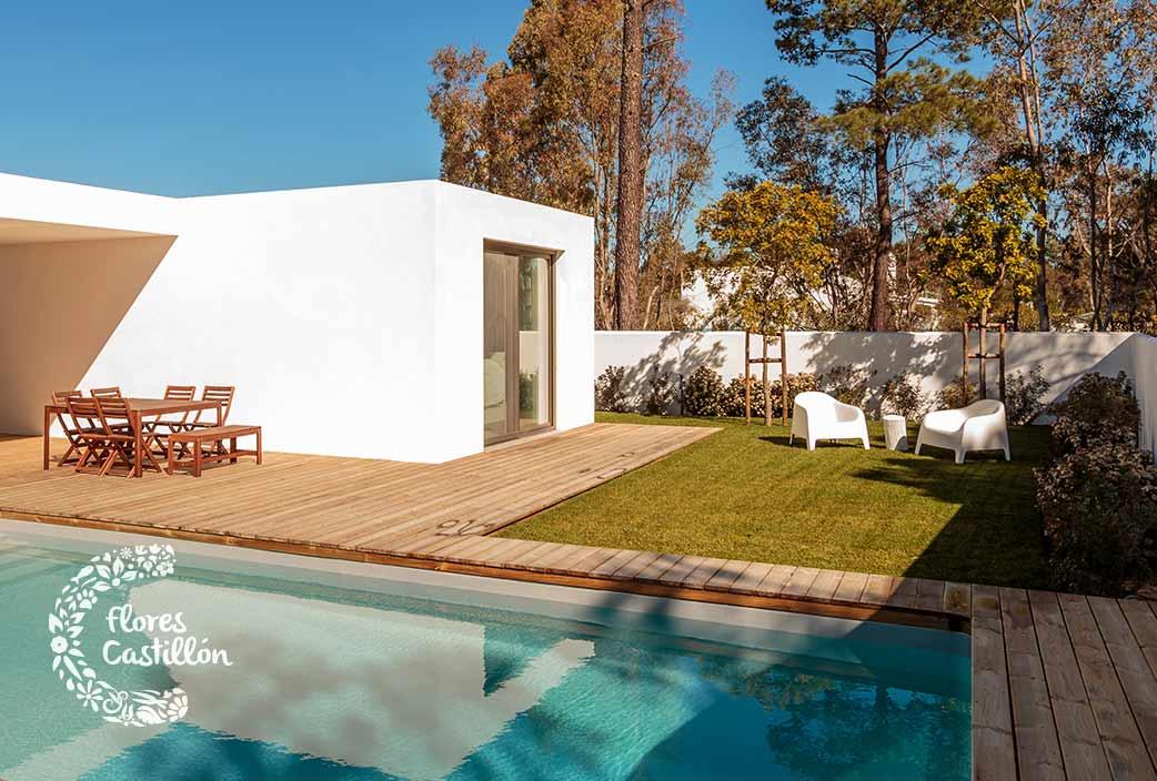 decoracion para jardines con piscina