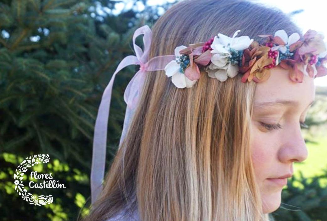 coronas florales para la comunion
