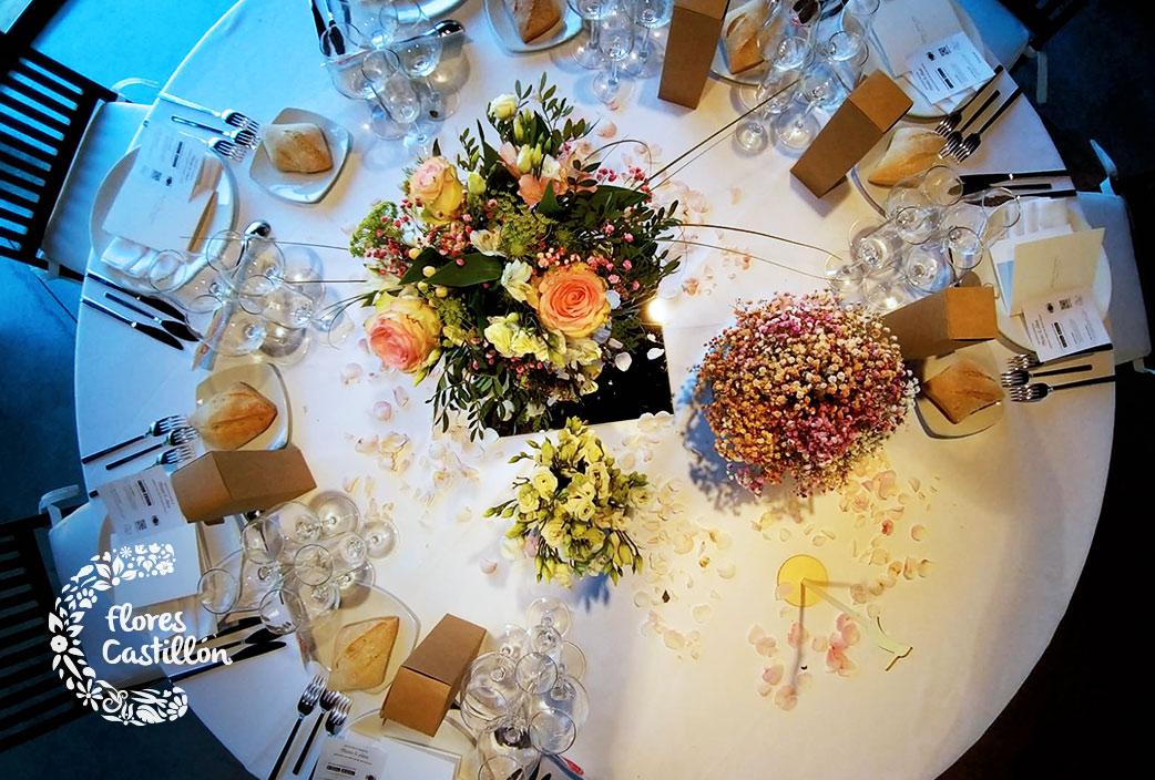 decoracion de banquete de boda en liguerre de cinca