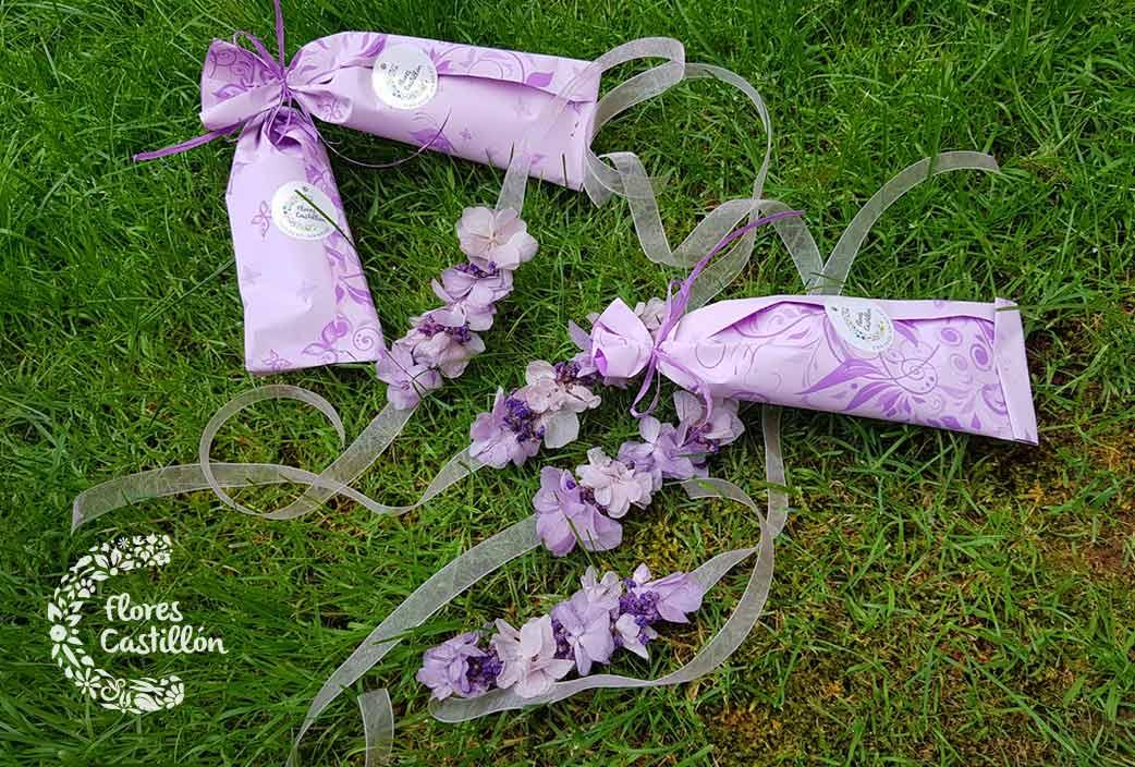 decoracion para regalar con flores preservadas