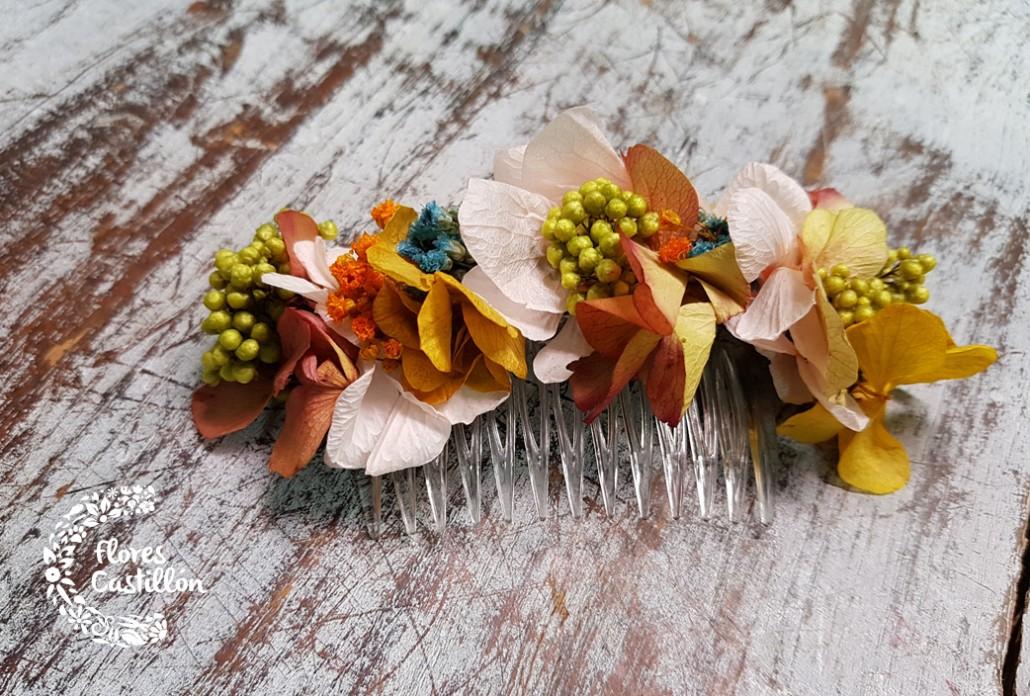 accesorio para el pelo de flores preservadas