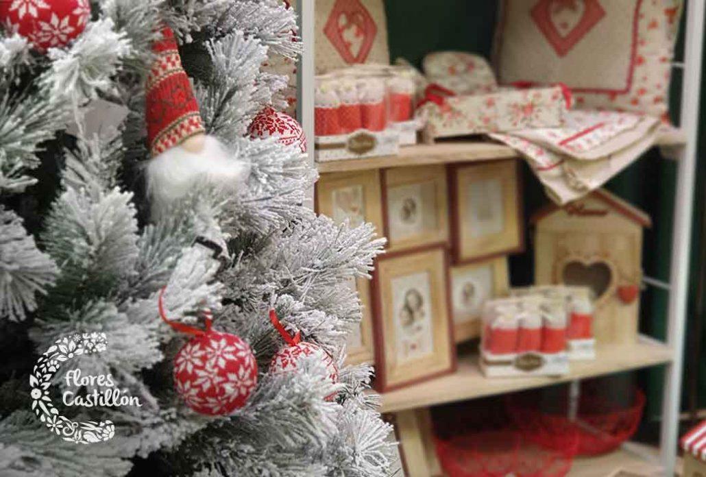 decoracion para navidad roja y blanca