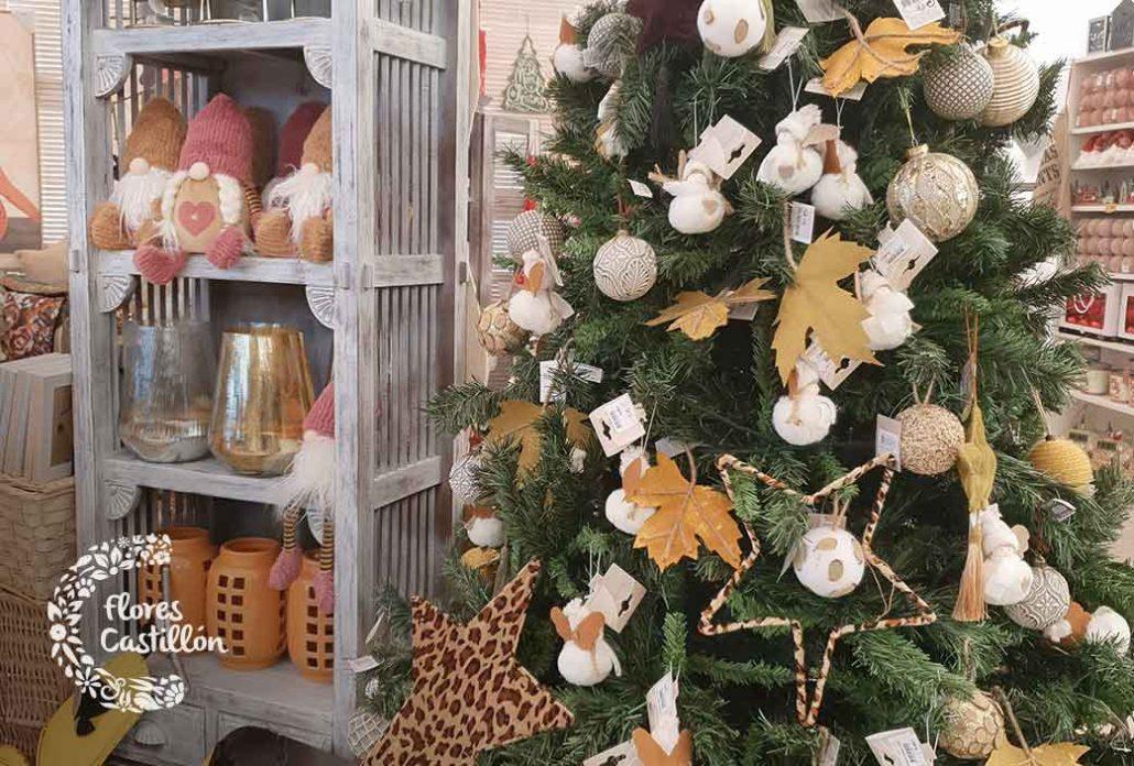 decoracion dorada navidad