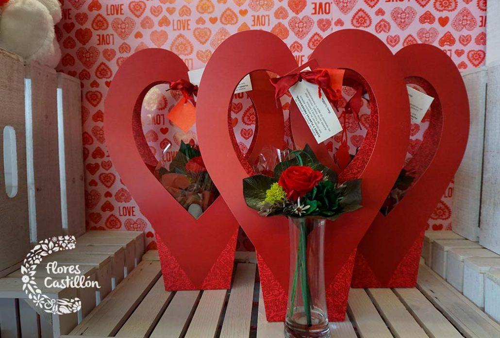 compra una rosa preservada por san valentin